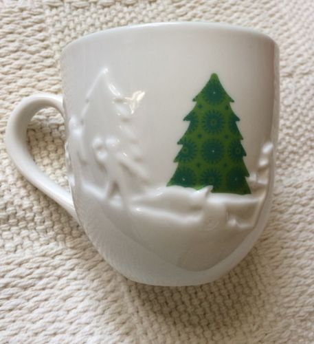 STARBUCKS Holiday 2006  Christmas Trees Snowman 16 oz Coffee/Tea Mug