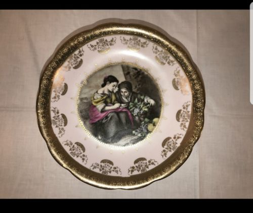 Vintage Royal Carlton Pedestal Dish Victorian Style Candy Dish Jewelry Gold