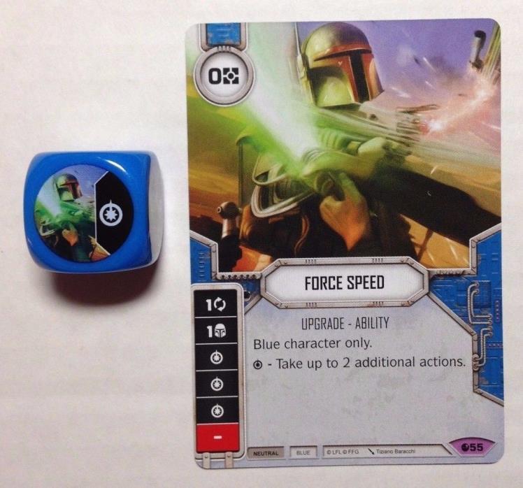 Star Wars Destiny FFG Force Speed + Die Set 2 LEGENDARY