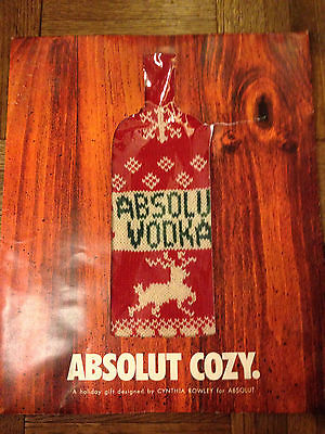 Absolut Vodka Cozy Bottle Sweater by Cynthia Rowley 2001 - NIP!