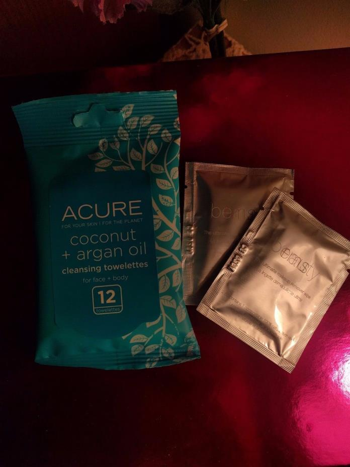 ACURE Coconut Argan Oil Cleansing Towelette RMS BEAUTY Makeup Remover Wipe