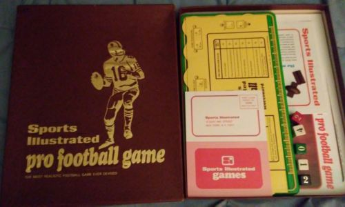 1971 Sports Illustrated Pro Football Game ~ Complete ~ Excellent condition