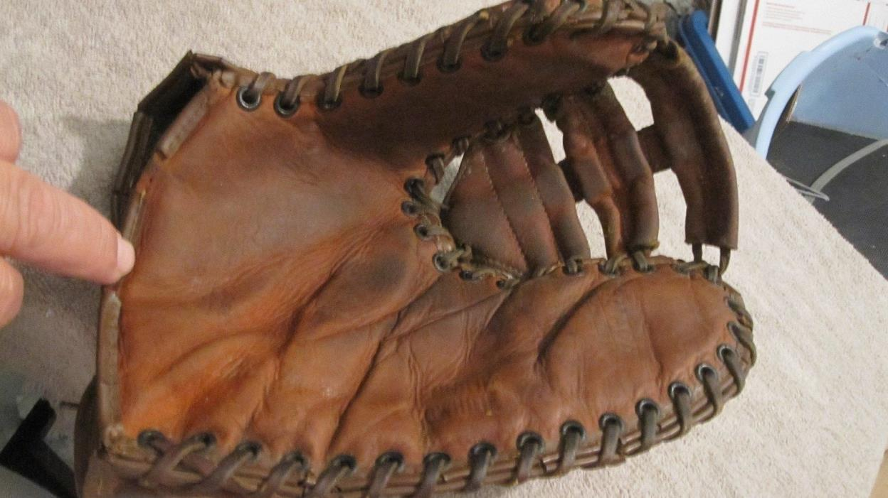 Vintage Hutch Clutch Genuine Cowhide Baseball Glove