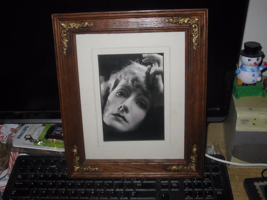 Beautiful wooden framed GRETA GARBO   Hollywood Legend Film Star photograph