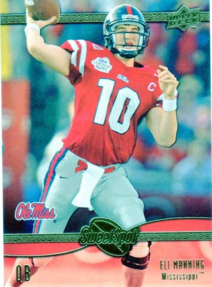 2010 Sweet Spot   -    ELI MANNING   -    OLE MISS REBELS   ( New York Giants )