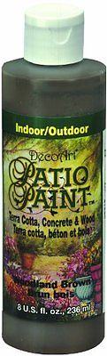 DecoArt DCP21-9 Patio Paint, 8-Ounce, Woodland Brown