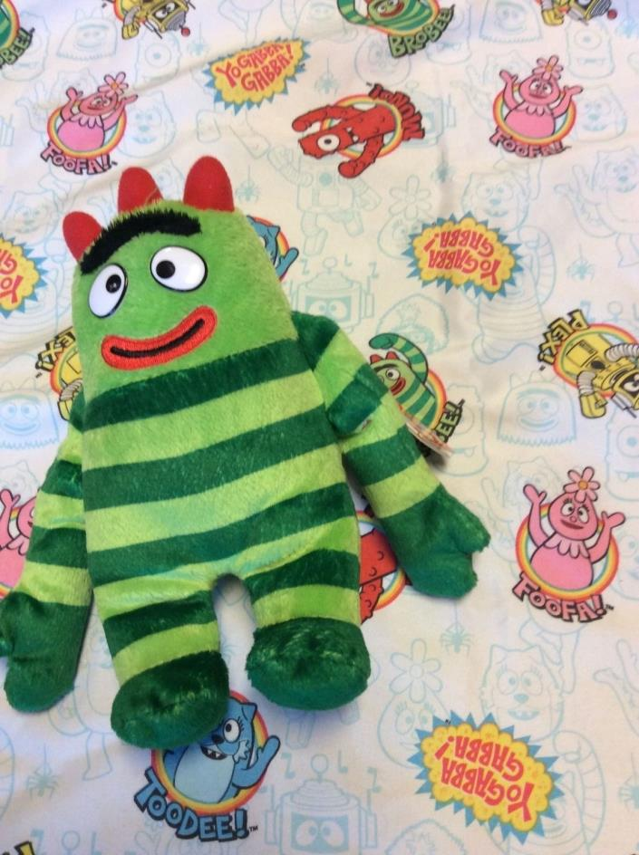 YO GABBA GABBA Pillowcase Handmade plus Brobee Plush Beanie Baby w tag Nick Jr.
