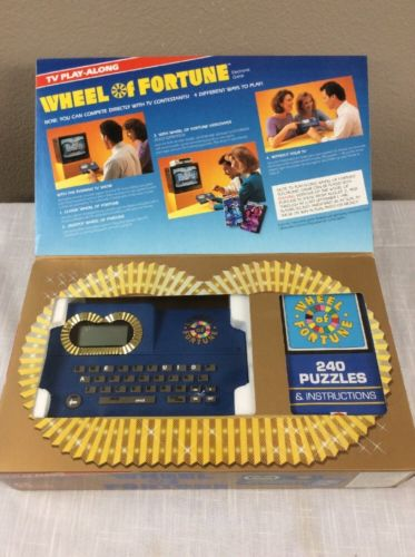 Wheel Of Fortune TV Show Play Along Electronic Handheld Interactive Game
