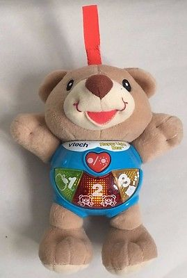 VTech Happy Lights Interactive Bear - Perfect For Car Seats And Strollers