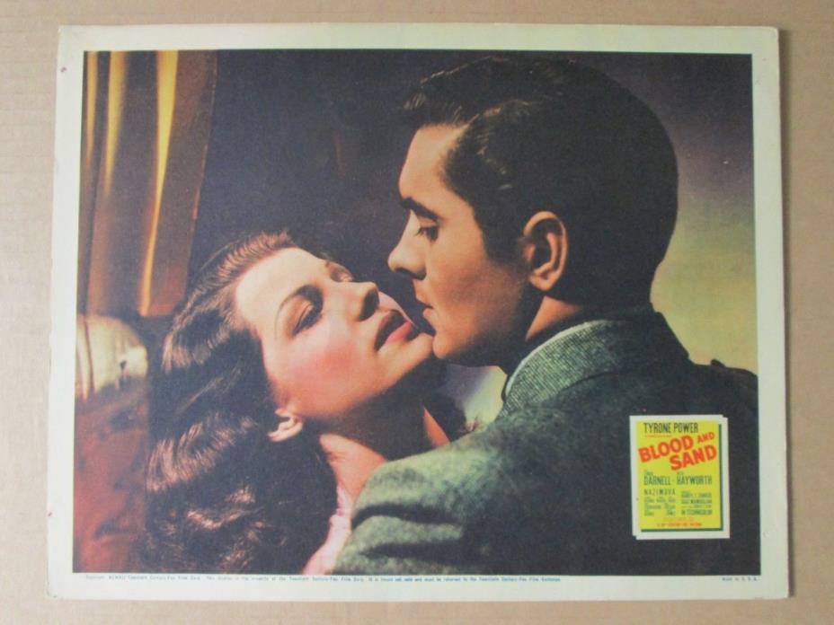 Blood And Sand - Original 1941  Lobby  Card - Tyrone Power- Rita Hayworth