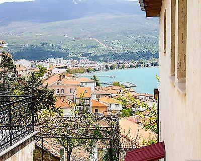 Ohrid, Macedonia Landscape, Cityscape, Architecture Photograph 8x10