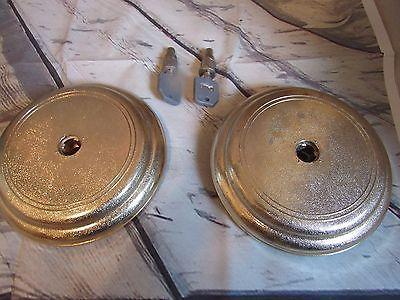 2 round lids + 2 locks and  keys set