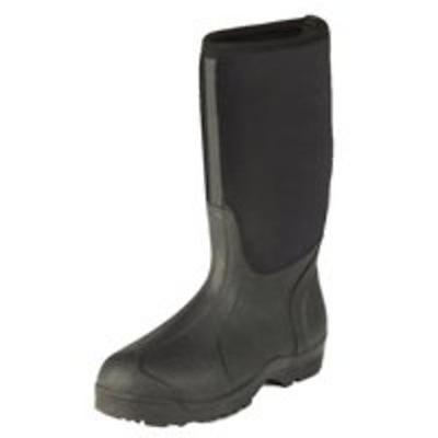 Norcross Safety 67502-9 Molded Sole Hi Boots, Size 9, Black