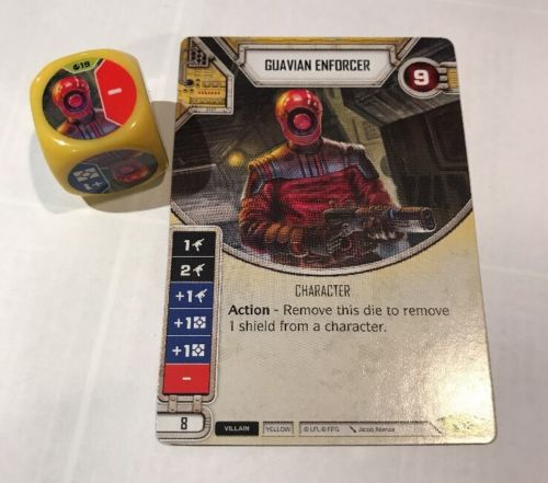 Star Wars Destiny Spirit of Rebellion Guavian Enforcer English in Hand