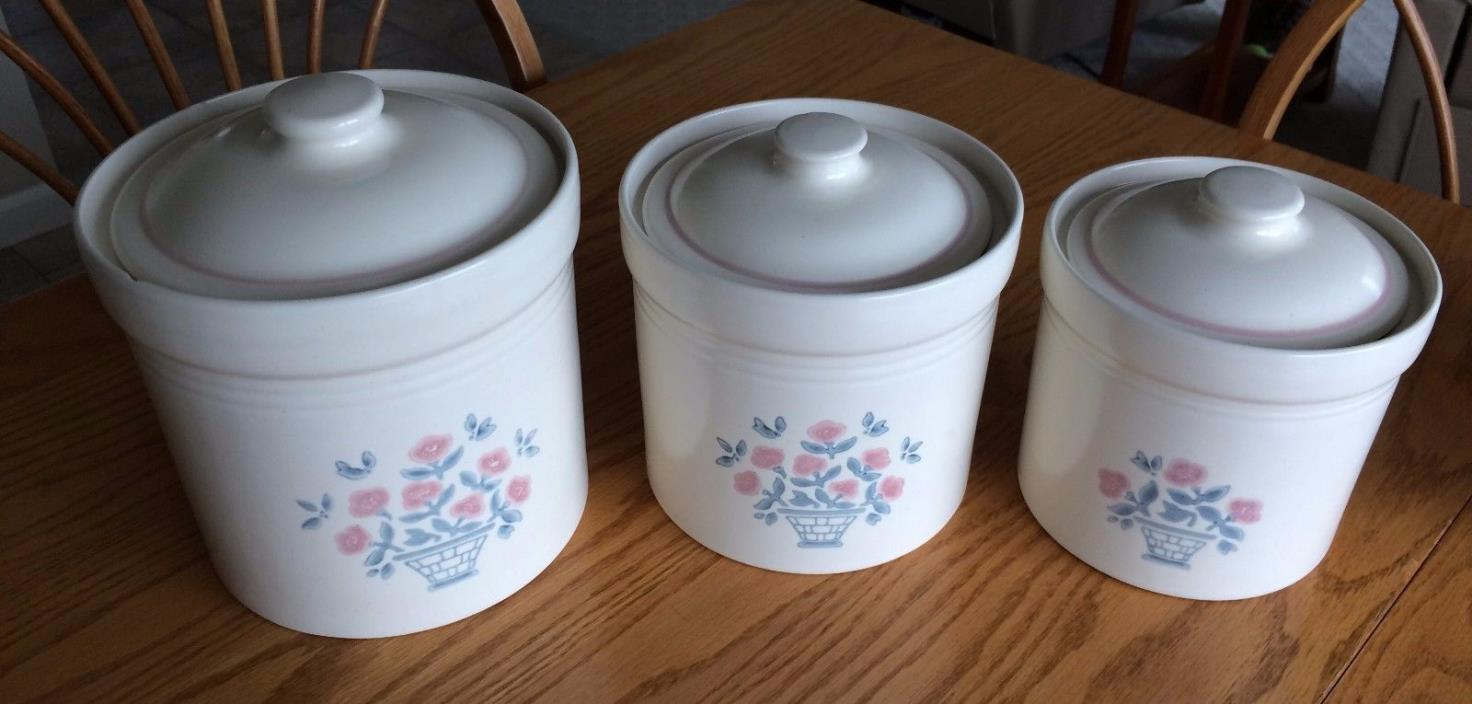 Pfaltzgraff PERENNIALS (SERENDIPITY COLLECTION) Three (3) Canister Set