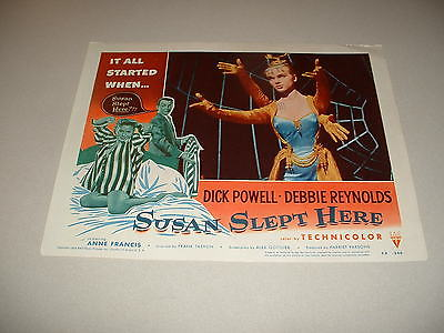 SUSAN SLEPT HERE- ANNE FRANCIS-1954  LOBBY CARD