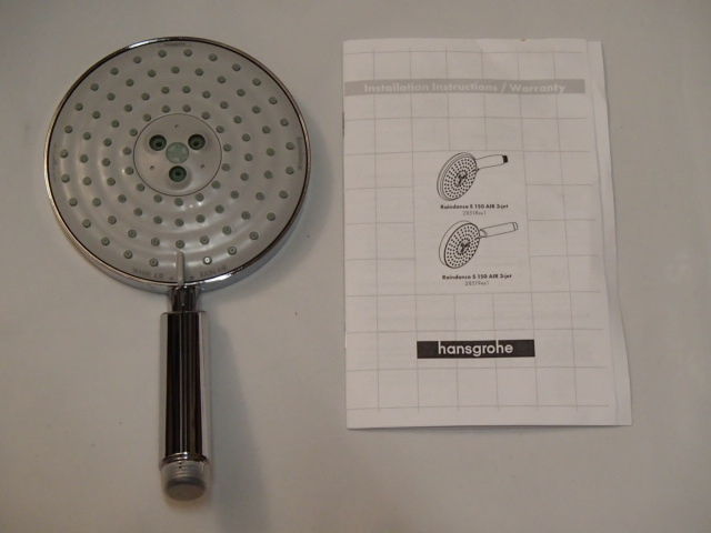 Hansgrohe Raindance S 150 AIR 3-Jet Hand Shower Head, Chrome