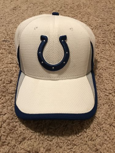 Indianapolis Colts New Era On Field Stretch Hat Cap Medium Large NFL M/L Team