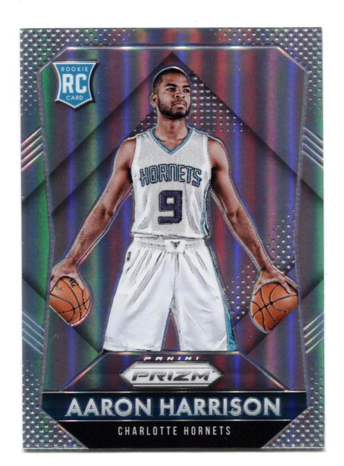 2015-16 PRIZM SILVER PRIZMS AARON HARRISON ROOKIE REFRACTOR RC #319 KENTUCKY UK