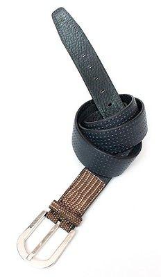 New BRIONI Black and Brown Handmade Genuine Lizard Belt 40 42 / 105 MSRP $695