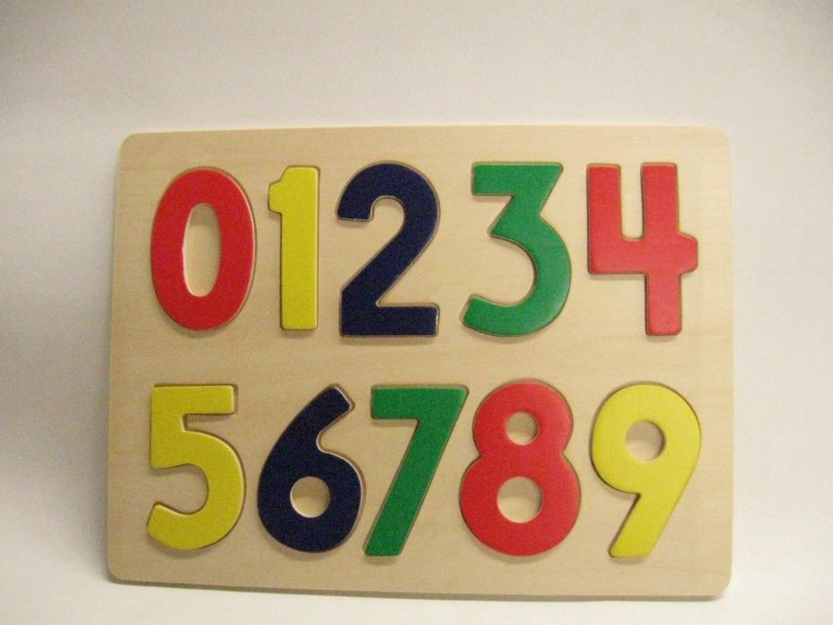 Kid's Wooden Learning Numbers Puzzle Board