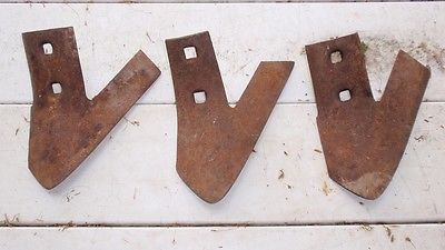 6 Cultivator Shovels Sweeps  - 1 New - 5 Used - Brand Unknown