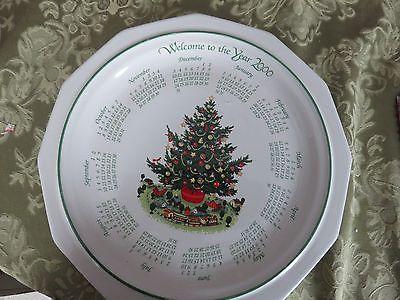 PFALTZGRAFF christmas HERITAGE CALENDAR DINNER PLATE 2000