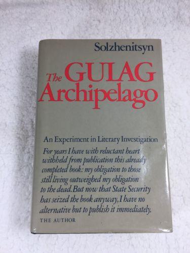 The Gulag Archipela Aleksandr I. Solzhenitsyn/1st Ed./HCDJ/History/Russia Book