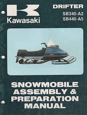1981 KAWASAKI SNOWMOBILE DRIFTER ASSEMBLY & PREPARATION MANUAL (879)