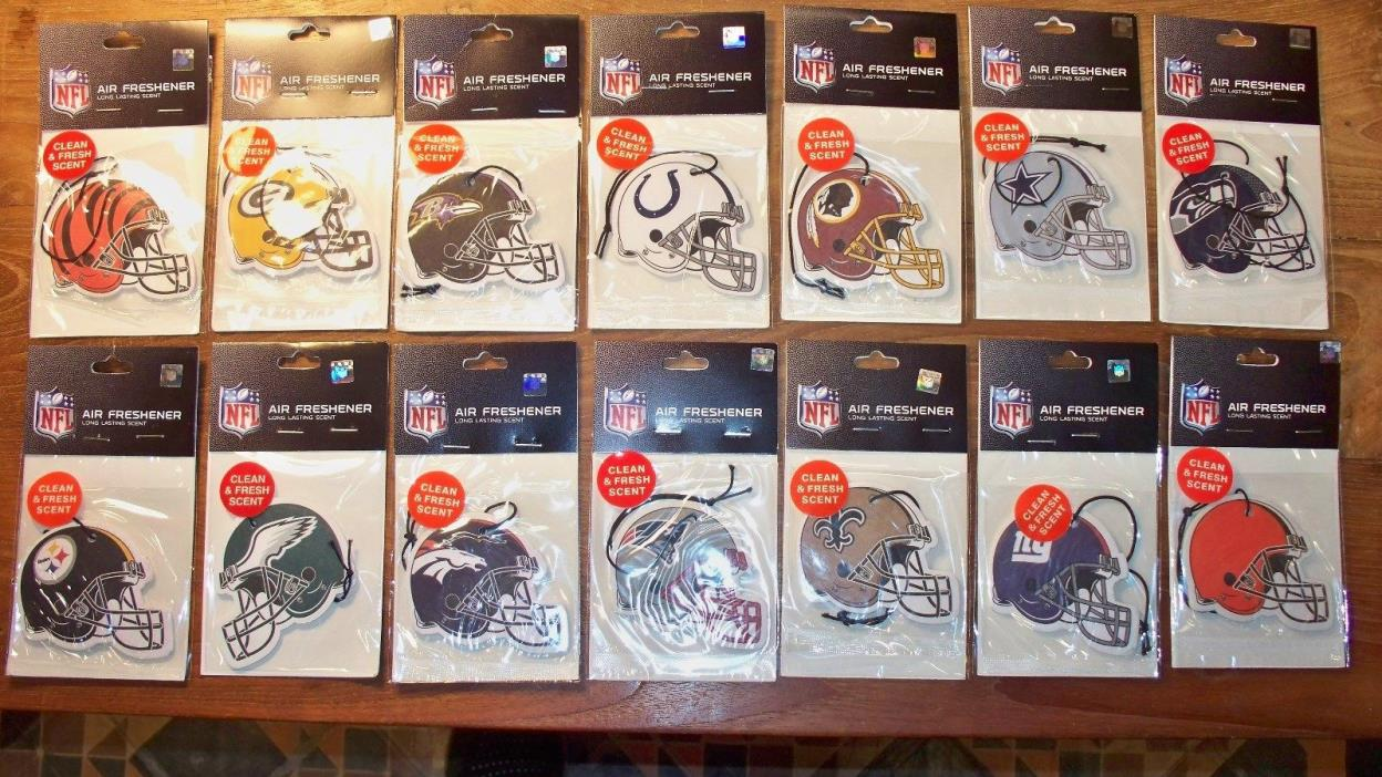 SET OF 2 - NFL Air Fresheners - TWO-SIDED TEAM HELMET - Official NFL - SET OF 2
