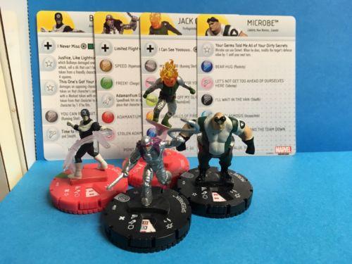 Heroclix Marvel Rare Speedfreek 037 Jack O'Lantern 020 Bullseye 018 Microbe