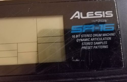 ALESIS SR-16 Stereo Drum Machine for parts or repair