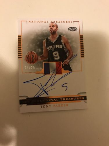 2016-17 National Treasures Tony Parker International Treasures Auto 25/25