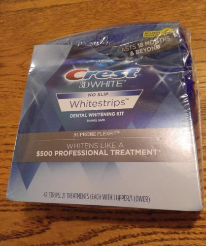 Crest 3D White Supreme FLEXFIT Dental Whitening Whitestrip 42 Strips EXP 11/2018