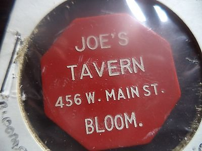 Bloomsburg, PA Joe's Tavern Trade Token
