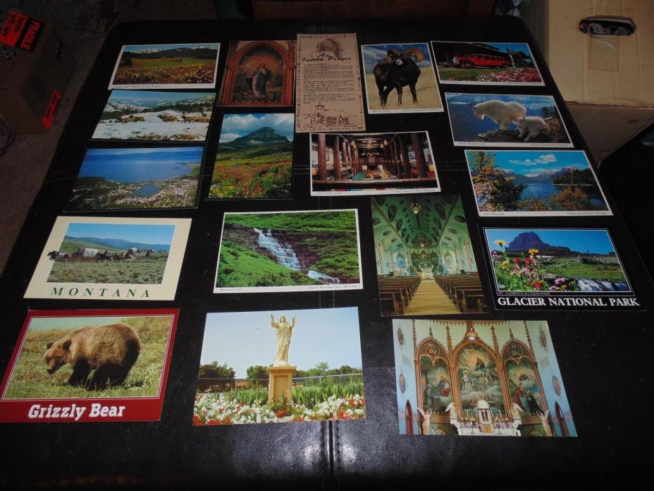 Montana postcards - Lot of 18