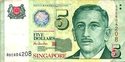 Bank Note Singapore $5 Garden City