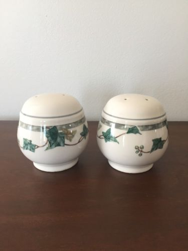 Noritake Keltcraft IVY LANE Salt & Pepper Set - Made in Ireland