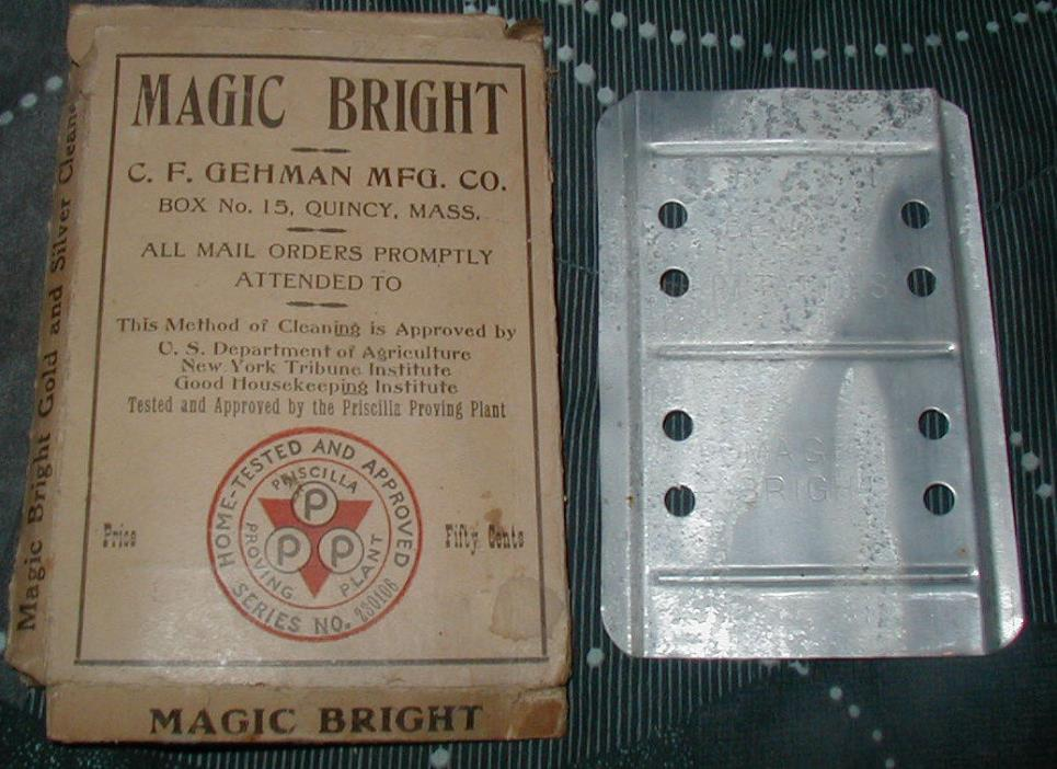 Vintage Magic Bright Gold & Silver Cleaner C. F. Gehman Mfg. Co. with Box