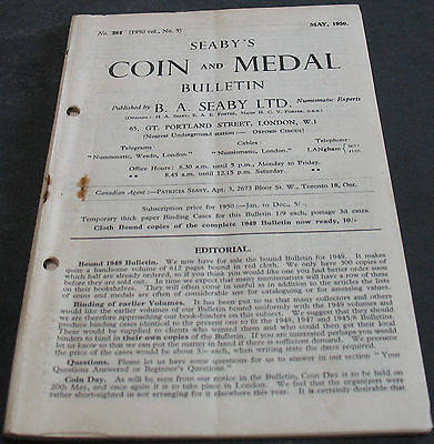 Antique - Seaby's Coin And Medal Bulletin May 1950 Scarce!