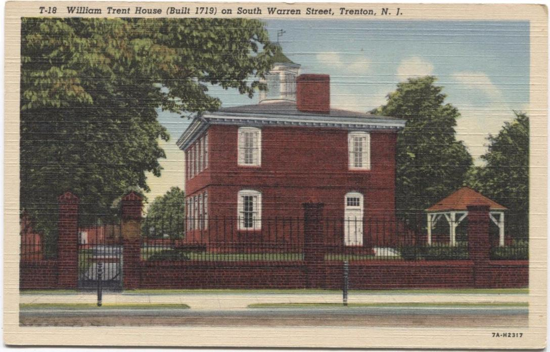 William Trent House on South Warren Street Trenton New Jersey Postcard M25