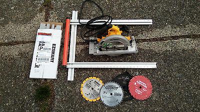 Dewalt  DWE575SB, blades, EZ Universal Edge Guide UEG, plywood track saw