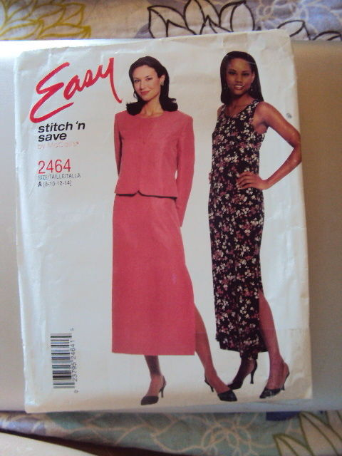 McCalls Dress Jacket Pattern 2464 UNCUT 8-14 Vintage Free Shipping