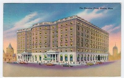 The Sheraton Plaza, Boston, Mass.,