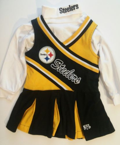 NFL brand Pittsburgh Steelers Cheerleader Uniform yellow Size 2T, great shape