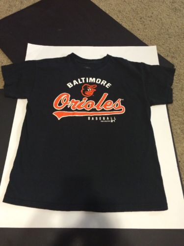 Baltimore Orioles Baseball Mlb T Shirt Youth Boys Xl Size (18-20 ) Euc Ships $0