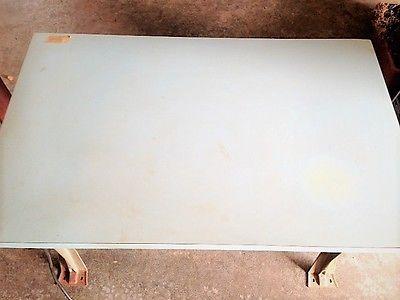 Steel Frame Work Table, Workstation with 6 Plug Power Strip