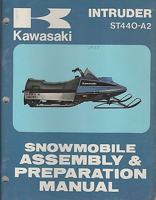 1979 KAWASAKI SNOWMOBILE INTRUDER ST440-A2  ASSEMBLY & PREPARATION MANUAL (885)