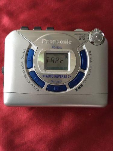 PANASONIC RQ-E25V AUTO REVERSE AM/FM STEREO RADIO CASSETTE PLAYER **TESTED**