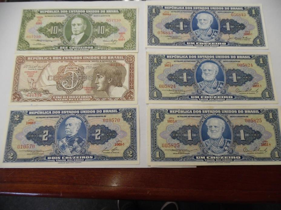SIX BRASIL NOTES - UNCIRCULATED